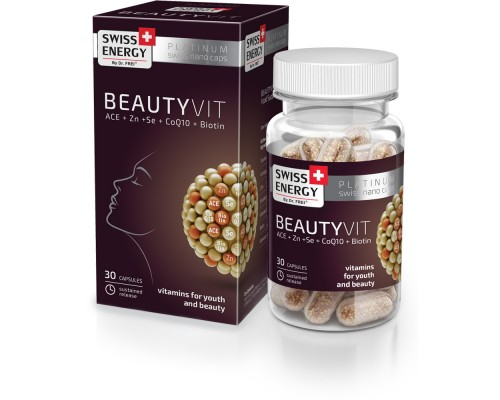 Витамины в Nano капсулах Swiss Energy BeautyVit №30