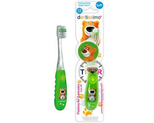 Зубная щетка Dentissimo Kids Timer (3-6 лет), мягкая щетина