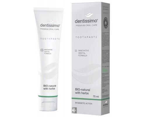 Зубная паста Dentissimo Bio-Natural With Herbs, 75 мл