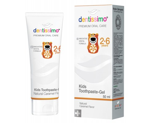 Зубна паста Dentissimo Kids With Caramel Aroma (2-6 років), 50 мл