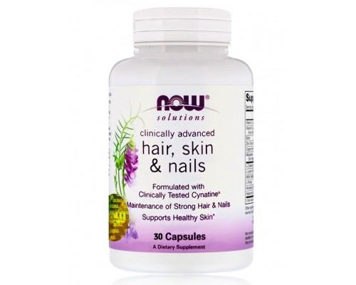 HAIR, SKIN & NAILS красота и здоровье в капсулах №30 NOW Foods