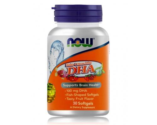 ОМЕГА DHA жувальна для дітей з фруктовим смаком №30 NOW Foods