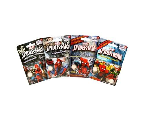 Витамины жевательные для детей Swiss Energy Multivitamin Spiderman №12